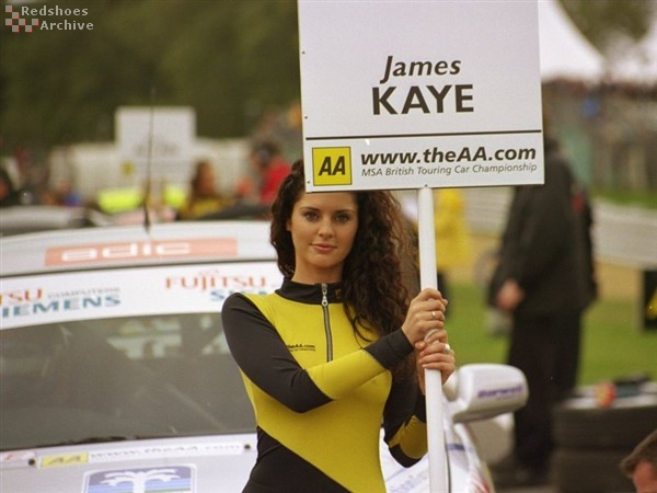 James Kaye's grid girl